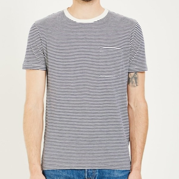 Levi's Other - Levi's Made & Crafted Striped Pocket Tee Indigo